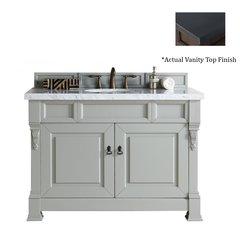 "48"" Brookfield Single Vanity w/Black Polished Top-Urban Gray"