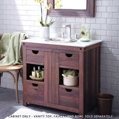 "36"" Cabernet Single Sink Vanity Only w/o Top - Light Wood"