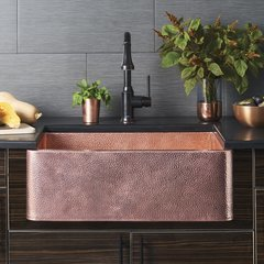 "30"" x 18"" Farmhouse Kitchen Sink - Antique Copper"