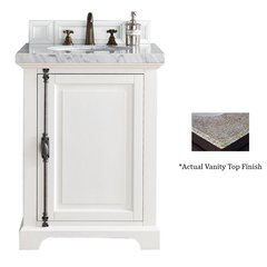 "26"" Providence Vanity w/ Beige Rustic Top - Cottage White"