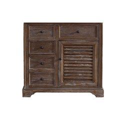 "35"" Savannah Sinlge Cabinet Only w/o Top - Driftwood"