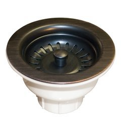 "3-1/2"" Round Basket Strainer - Oil Rubbed Bronze"