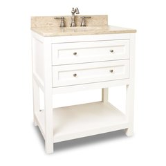 "30"" Astoria Modern Single Sink Vanity - Cream White"