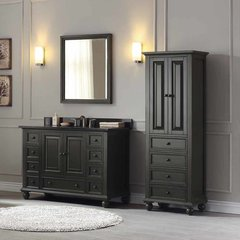 "49"" Thompson Single Vanity - Charcoal Glaze w/ Black Top"