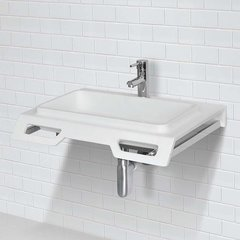 """DECOLAV 18"""" x 25"""" Wall Mount Bathroom Sink - White 1834-SSA"""