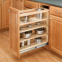 "Rev A Shelf 3 Tier Organizer 5""-Wood For 19 inch Depth"