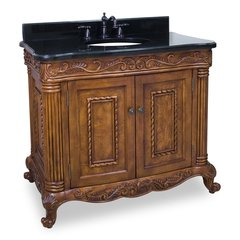 "39"" Antique Single Sink Vanity - Walnut"