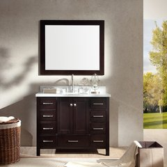 "43"" Cambridge Single Sink Bathroom Vanity - Espresso"