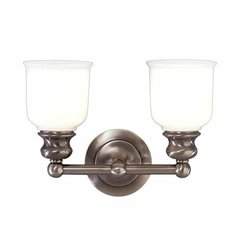 Riverton 2 Light Bathroom Vanity Light - Antique Nickel