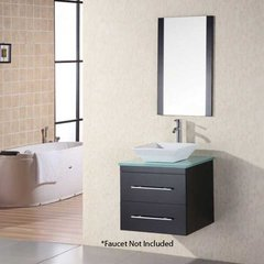"24"" Portland Single Vessel Sink Bathroom Vanity - Espresso"