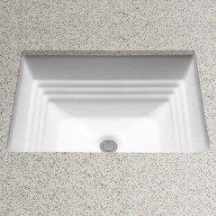 """20-1/2"""" x 16-1/2"""" Undermount Bathroom Sink - Cotton White"""