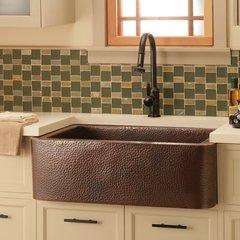 """33"""" x 22"""" Farmhouse Kitchen Sink - Antique Copper <small>(#CPK273)</small>"""