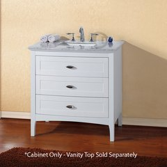 "35"" Single Sink Cabinet Only w/o Top - White"