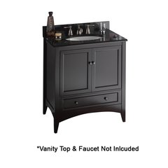 "30"" Berkshire Cabinet Only w/o Top - Espresso"