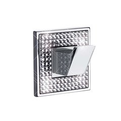 Diamond Robe Hook Polished Chrome