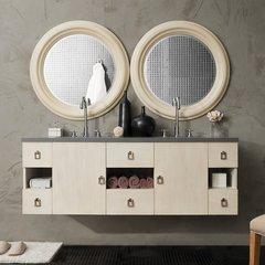 "60"" Sonoma Double Vanity Cabinet Only-Vanilla Oak"