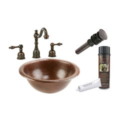"12"" x 12"" Round Drop-In Sink Package- Oil Rubbed Bronze"