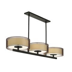 Puri 3-Light Bar Pendant - Black Brass