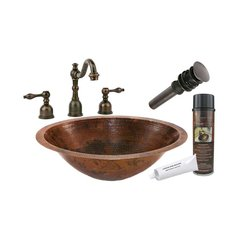 "20"" x 16"" Oval Undermount Sink Package - Oil Rubbed Bronze"