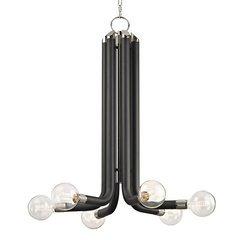 Desmond 6 Light Chandelier - Polished Nickel