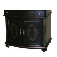 "36"" Arlington Single Sink Cabinet Only w/o Top - Ebony"