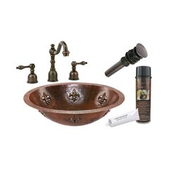 "19"" x 14"" Oval Undermount Sink Package - Oil Rubbed Bronze"