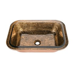 "21"" x 15-1/2"" Undermount Bathroom Sink - Copper"
