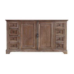 "59"" Providence Double Cabinet Only w/o Top - Driftwood"