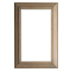 "42"" X 28"" Portland Wall Mount Mirror White Washed Walnut"