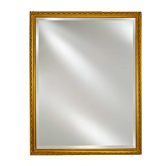 "Basix 16"" Mirrored Medicine Cabinet -Antique Gold"