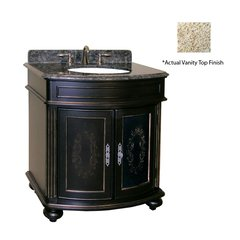 "30"" Arlington Single Sink Vanity w/ Gold Top - Ebony"