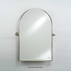 "Radiance Gear Tilt 20"" Arch Top Mirror - Polished Brass"