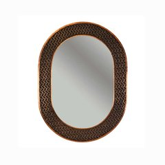 "35""x26"" Oval Copper Wall Mount Mirror - Oil Rubbed Bronze"