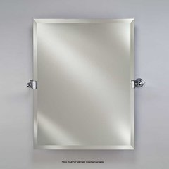 "Radiance Tilt Traditional 24"" Mirror - Polished Nickel"