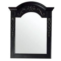 "40"" X 32"" European Traditions Wall Mount Mirror Empire Black"
