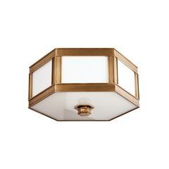 Nassau 2 Light Flush Mount - Aged Brass