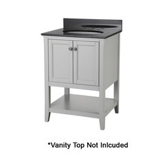 "24"" Auguste Cabinet Only w/o Top - Gray"