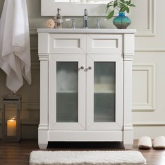 "30"" Weston Single Vanity w/ Arctic Fall Top-Cottage White"