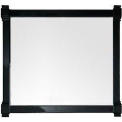 Brittany 39.25 Inch x 43 Inch Mirror - Black Onyx