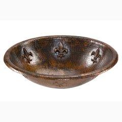 "19"" x 14"" Self Rimming Bathroom Sink - Oil Rubbed Bronze"