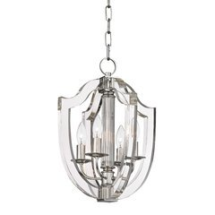 Arietta 4 Light Pendant - Polished Nickel