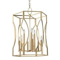 Roswell 9 Light Pendant - Aged Brass