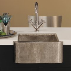 "18"" x 16"" Cabana Apron Front Undermount Sink-Brushed Nickel"