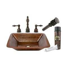 "19"" x 16"" Undermount Sink Package - Oil Rubbed Bronze"