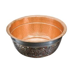 "16"" x 16"" Murano Above Counter Bathroom Sink - Copper"