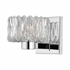 Anson 1 Light Bathroom Sconce - Polished Chrome
