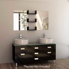 "55"" Wellington Double Vessel Sink Bathroom Vanity - Espresso"