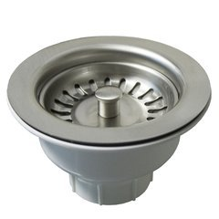 "3-1/2"" Round Basket Strainer - Brushed Nickel"