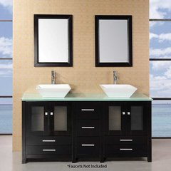 "61"" Arlington Double Vessel Sink Bathroom Vanity - Espresso"
