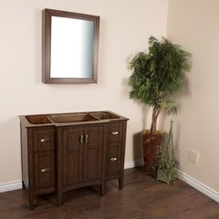"""44"""" Single Sink Cabinet Only w/o Top - Sable Walnut"""